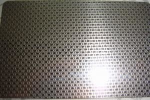SS 316L Grade Etching Stainless Steel Sheet Metal With Surface Linen Pattern